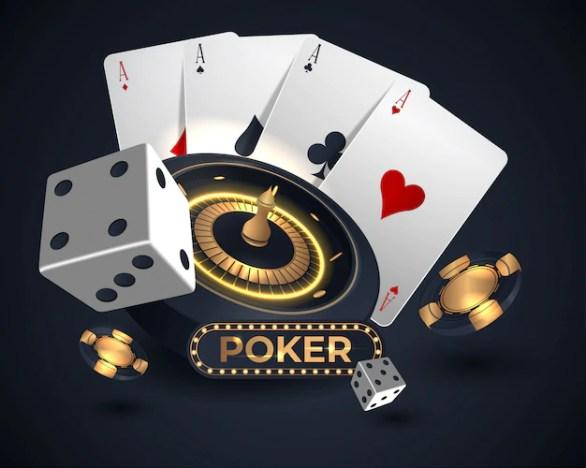 Premium Vector   Casino roulette wheel and poker cards