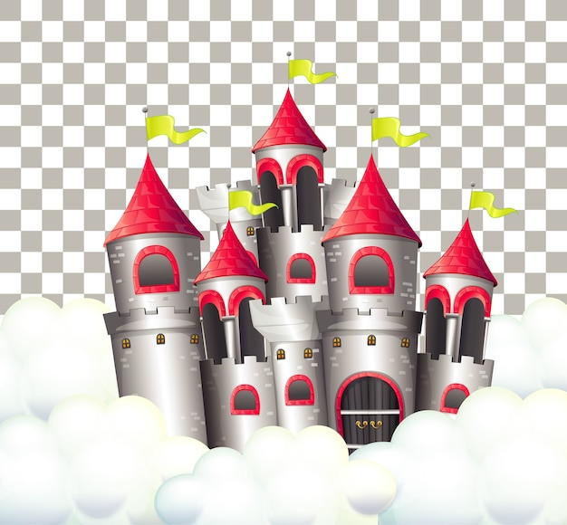 free vector castle in fairytale on