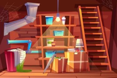 basement cellar vector cartoon room background messy storage interior warehouse illustrations crawl space inside clip moisture causes fix them vs