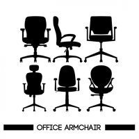 Chairs silhouettes Vector | Free Download