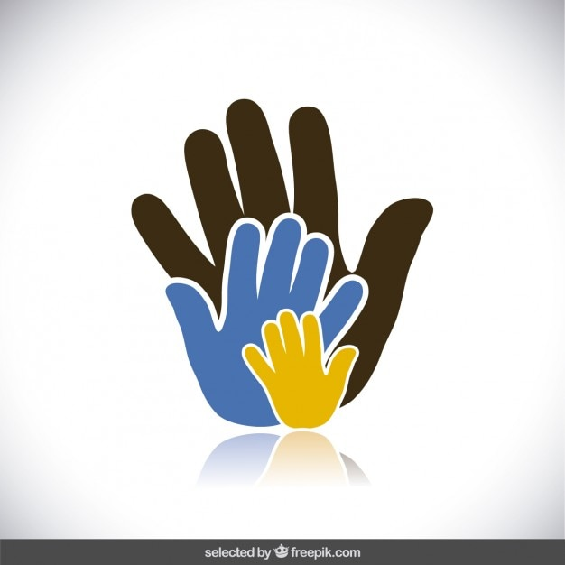 charity hands vector free