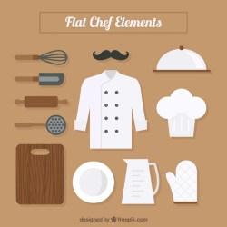 chef vector uniform utensils kitchen freepik vectors ago years