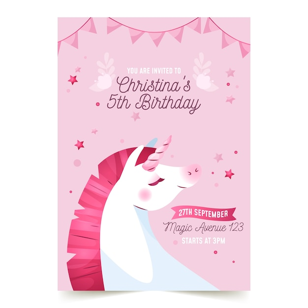 children s birthday invitation template