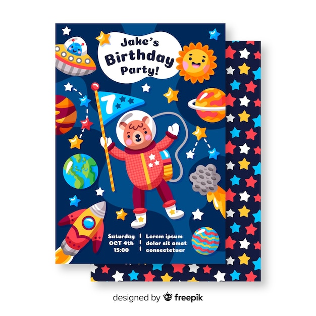 Birthday Invitation Card Templates Free Download Years