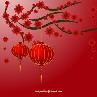 Chinese lamps Vector | Free Download