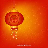 Chinese New Year lamp Vector | Free Download