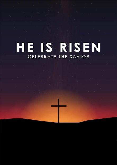 Premium Vector Christian Easter Scene