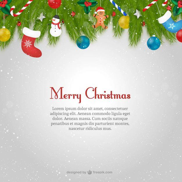 christmas vector template card text printable for