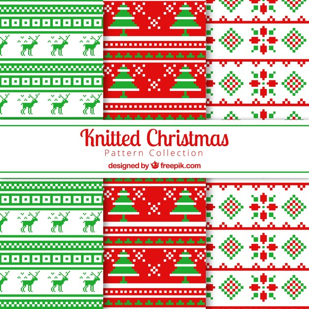 Christmas Cross Stitch Patterns Vector Free Download