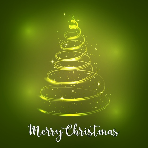 Christmas lights background. Free Vector