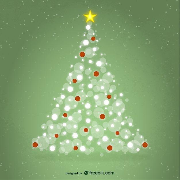 Christmas Tree With Sparkles Vector Free Download