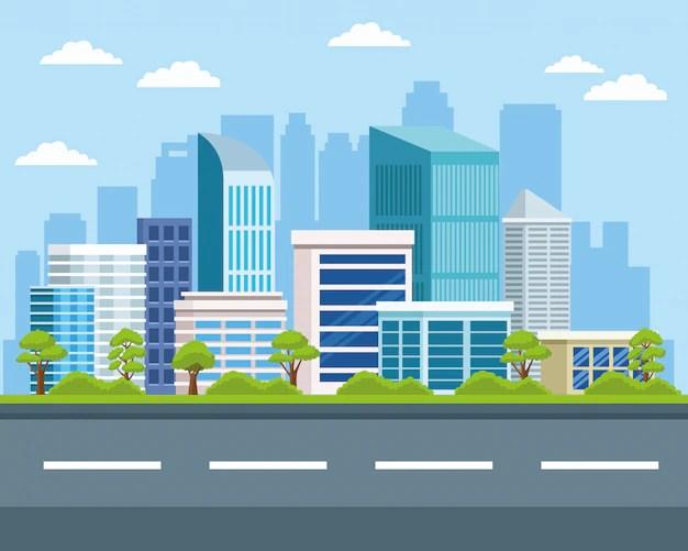 ✓ Gambar Animasi Jalanan Kota