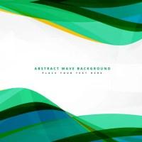 Clean green wavy background design Vector | Free Download