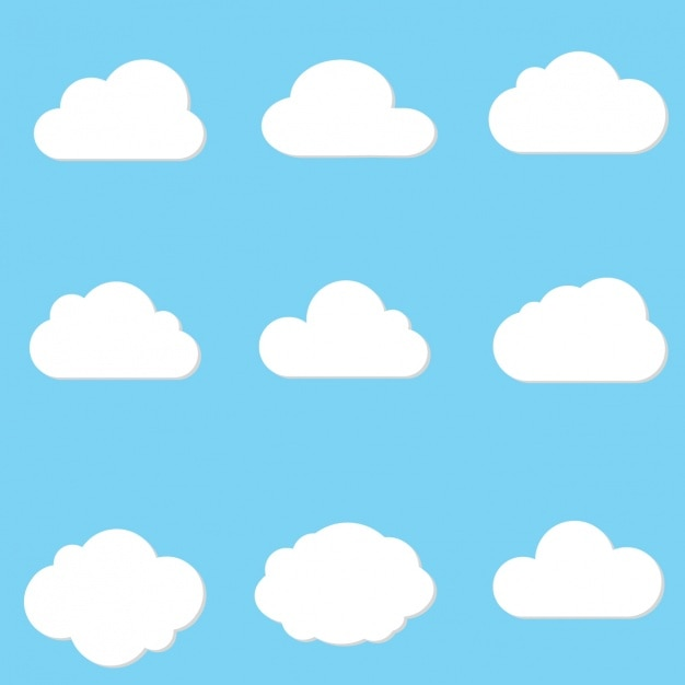 cloud designs collection vector