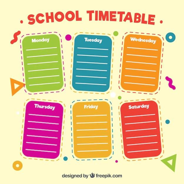 Planner Kids Weekly Template