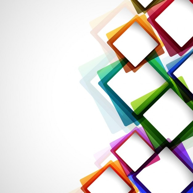 Colorful Abstract Background With Squares Vector Free