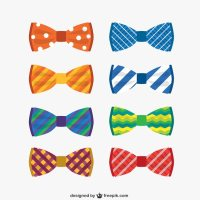 Colorful bow ties collection Vector | Free Download