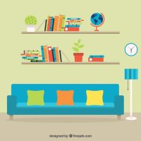 Colorful furniture Vector | Premium Download