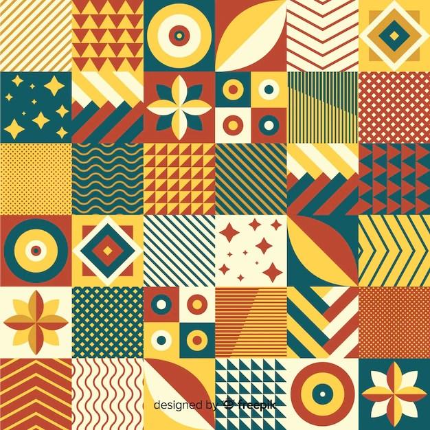 colorful geometric mosaic tile background