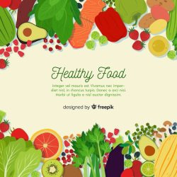 Free Vector Colorful healthy food background template