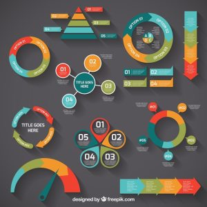 Colorful infographic diagrams Vector | Free Download