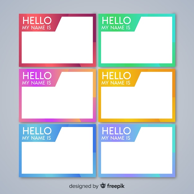 It is an image of Hello My Name is Printable regarding clipart