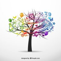 Colorful tree Vector | Free Download