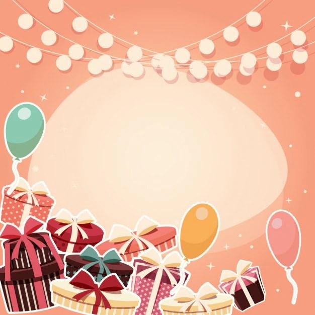 coloured birthday background design