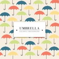 Coloured umbrella background design Vector | Free Download