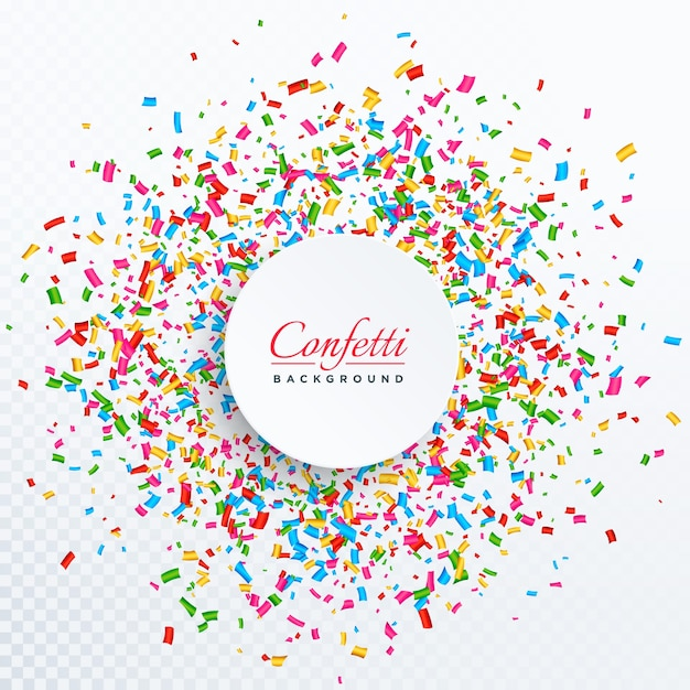 confetti background with text