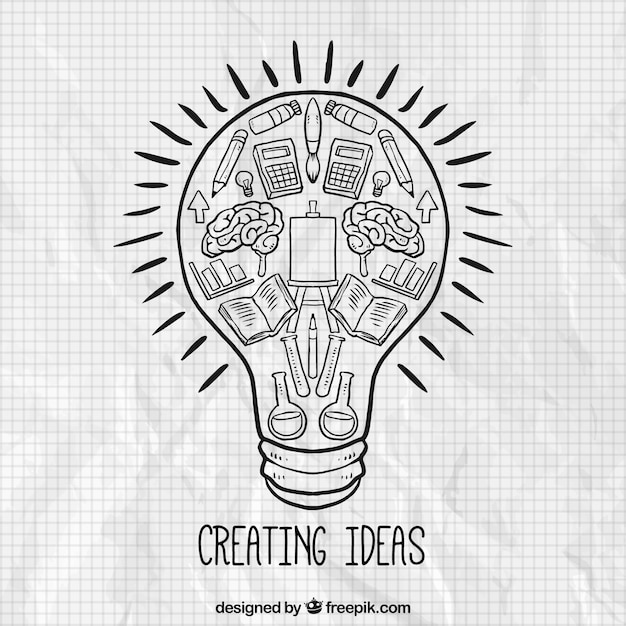 creating ideas concept vector