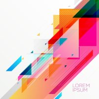 Creative colorful abstract geometric background design ...
