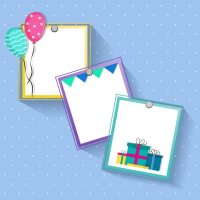 Creative frames design for Birthday and Party celebrations ...