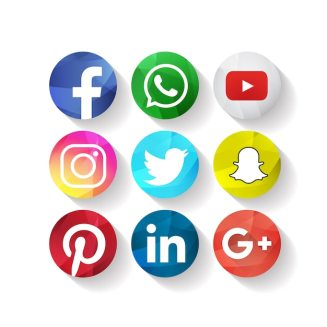 Free Vector | Creative social media icons facebook