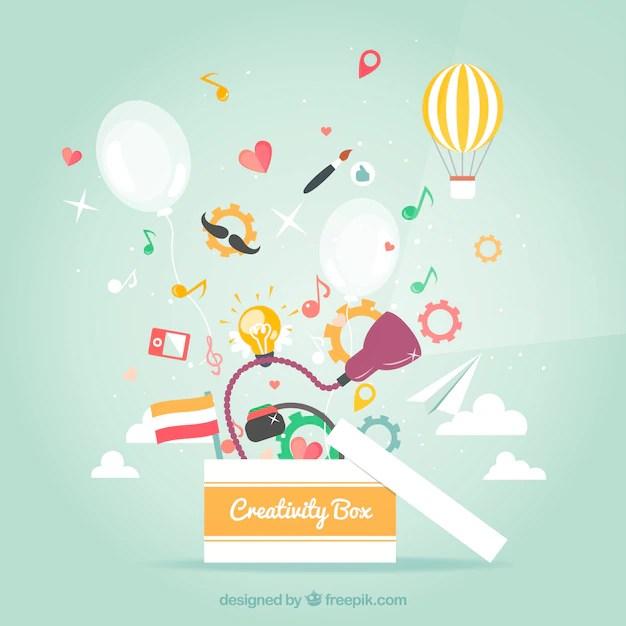 creativity box vector free