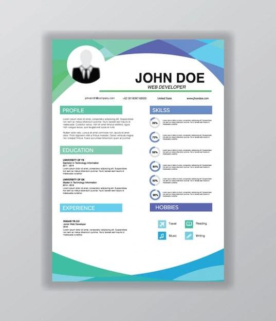 Curriculum Vitae Template Vector Free Download