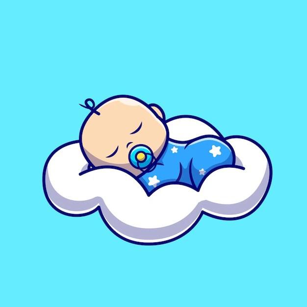 cloud pillow cartoon icon illustration