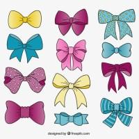 Cute bow ties Vector | Premium Download