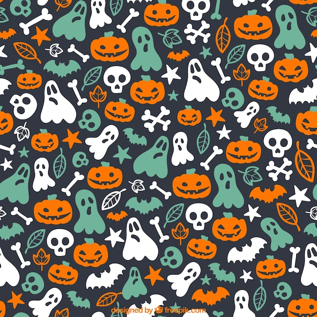 Cute Witchy Wallpapers Cute Halloween Pattern Vector Free Download