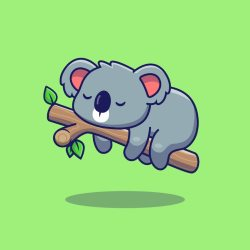 koala cartoon sleeping premium flat icon vector koalas cartone animato dell della freepik piatto sonno icona sveglia stile illustrazione