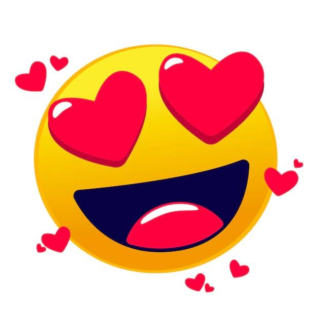 Download Cute love emoji Vector   Premium Download