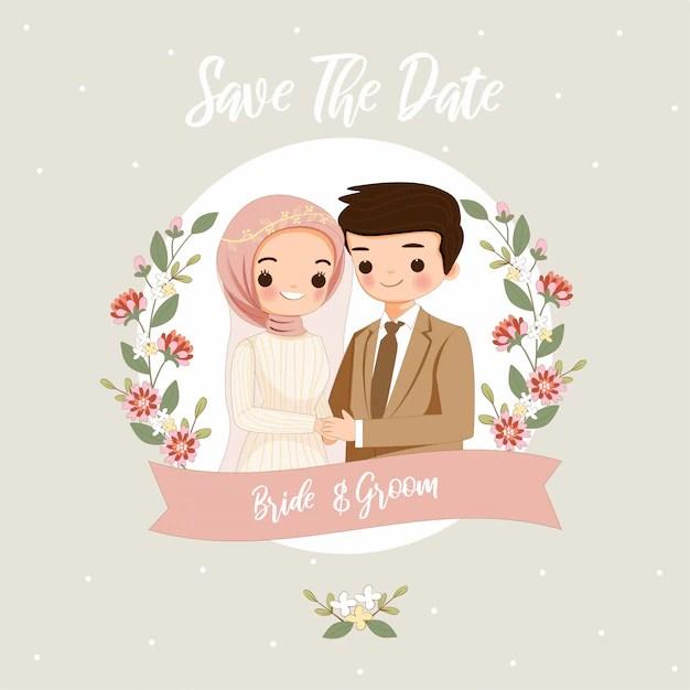 10+ Gambar Kartun Muslimah Menikah Png