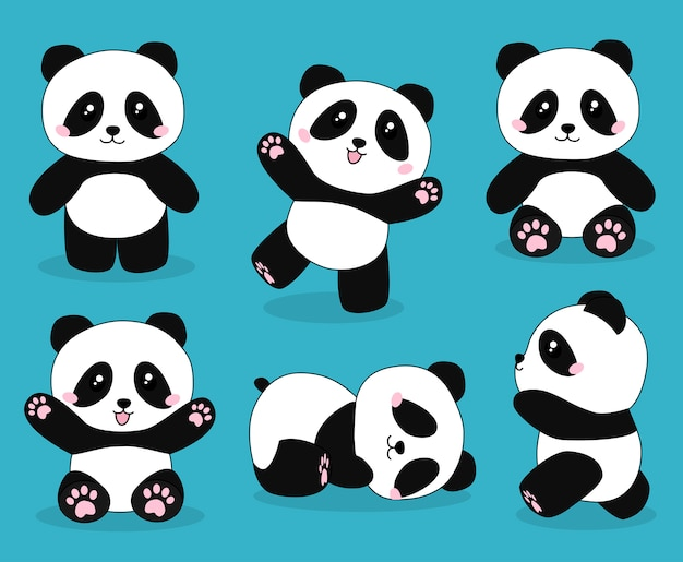 Premium Vector Cute Panda Bear