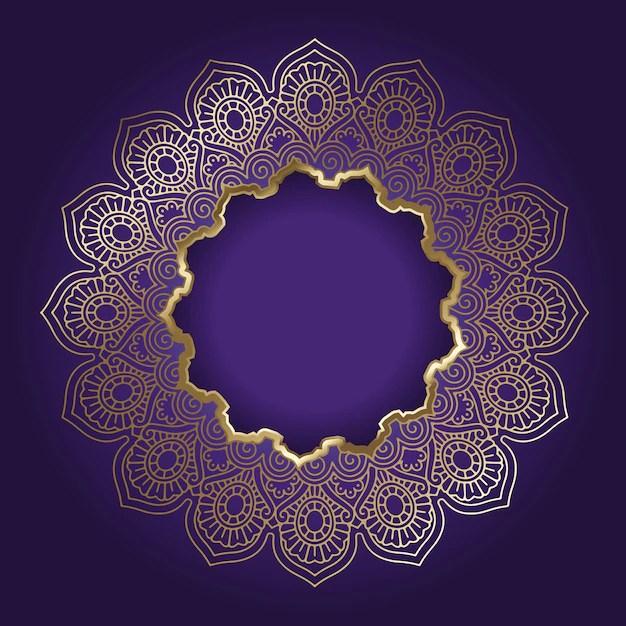 Pooja 3d Name Wallpaper Decorative Background With Golden Mandala Frame Vector