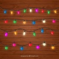 Decorative colored string lights set Vector | Free Download