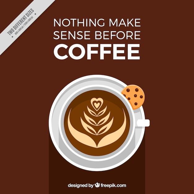 delicious coffee background with