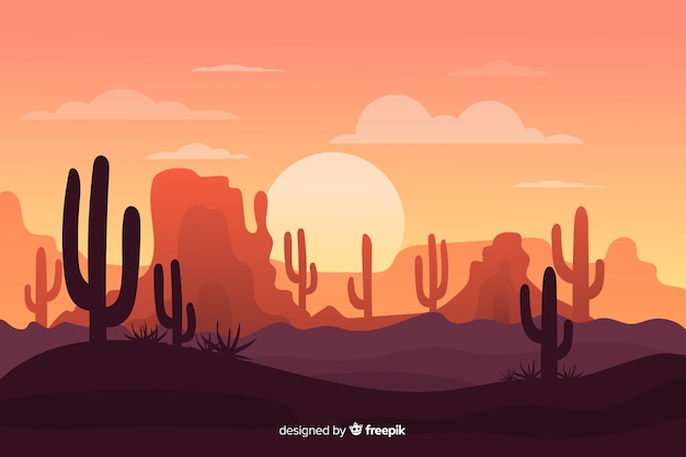 desert landscape with army