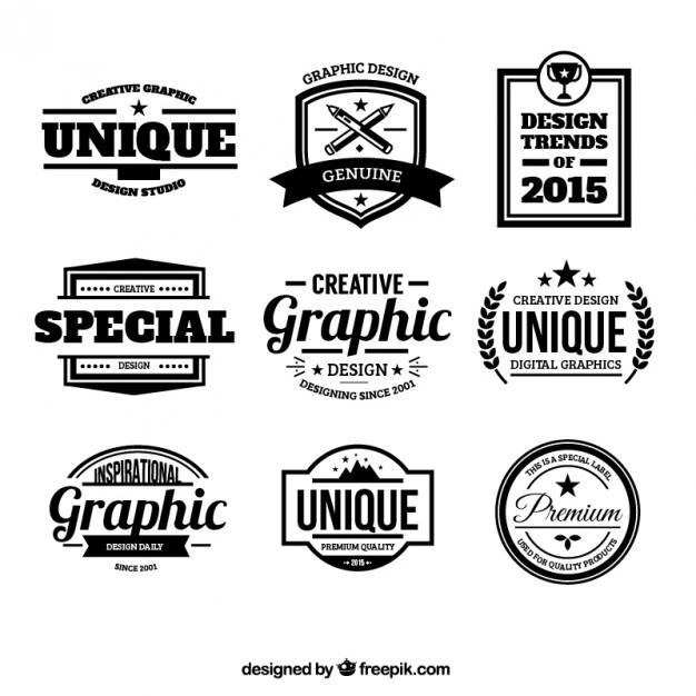 design badges in retro
