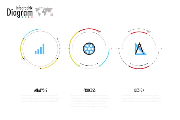 Diagram and flow chart of technology concept, presentation