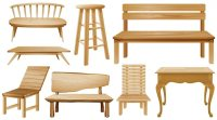 Different designs of wooden chairs Vector | Free Download